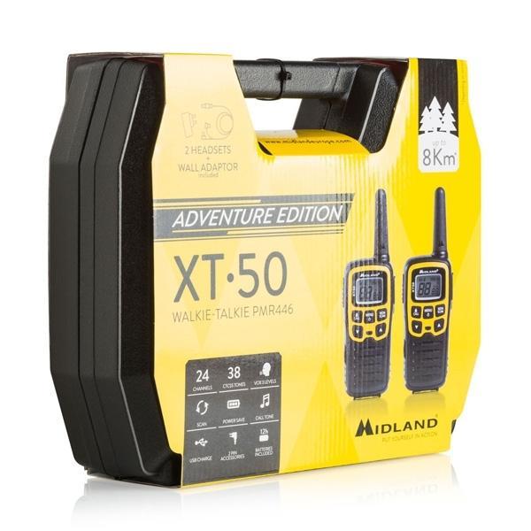Φορητός Πομποδέκτης Ασύρματος Walkie Talkie XT-50 της Midland